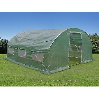 Polytunnelin kasvihuone 4x4x2 m, 16 m², Vihreä