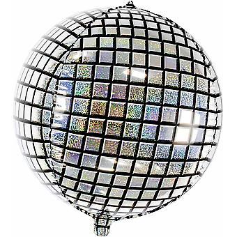 Globo de lámina Discoball Plata Holográfica 40 cm