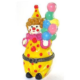 Circus Clown Costume with Balloons Trinket Box