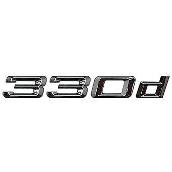 Silver Chrome BMW 330d Car Badge Emblem Model Numbers Letters For 3 Series E36 E46 E90 E91 E92 E93 F30 F31 F34 G20