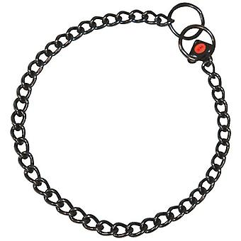 HS Sprenger Black stainless steel short link necklace