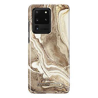 iDeal von Schweden Samsung Galaxy S20 Ultra - Golden Sand Marmor