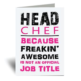 Head Chef Pink A6 Greeting Card