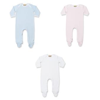 Larkwood Baby Unisex kontrast dlhý rukáv spánok oblek