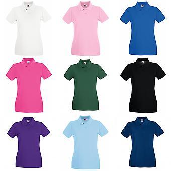 Vrucht van de Loom Lady-Fit Premium korte mouw Polo damesshirt