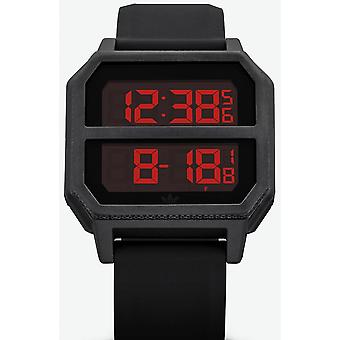 Adidas Originals Uhr Z16-760-00 - ARCHIVE-R2 Silikon Black Box und Stahl Schwarz Carr Männer/Frauen