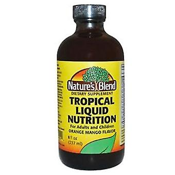 Nature's blend tropical liquid nutition liquid, orange mango, 8 oz