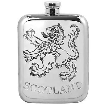 Schottland Lion Rampant Zinn Flachmann - 6oz