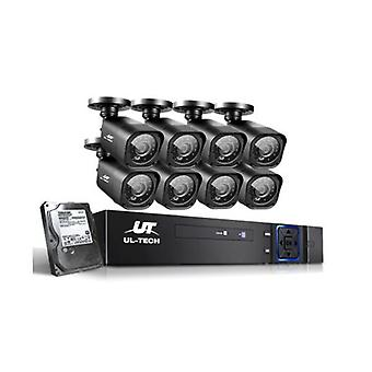 Cctv Security System 8 Camera Sets 2Tb 8Ch Dvr 1080P