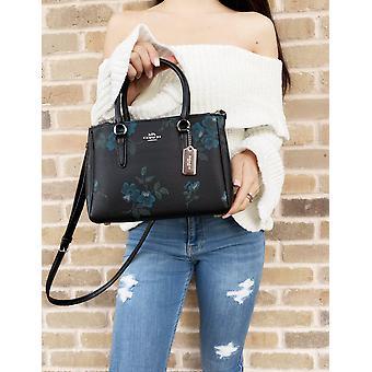 Coach f88562 mini surrey satchel bag crossbody black multi floral