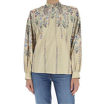 Etro 1363745900990 Women's Bege Silk Blouse