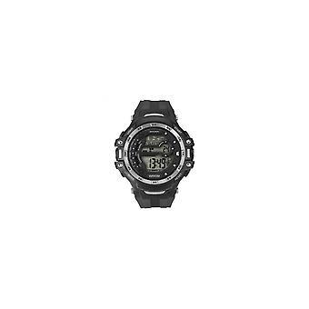 Sekonda Mens Digital Round Silver Bezel Rubber Strap Watch 1521
