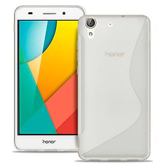 S-Line Slim Cover para Huawei Honor 5A TPU Patterned Common Colors Ultra thin White