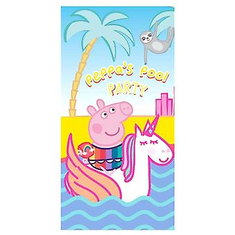 Peppa Pig, Bath Towel - Peppa&s Pool Party