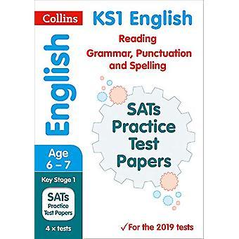 New KS1 SATs English Reading - Grammar - Punctuation and Spelling Pra