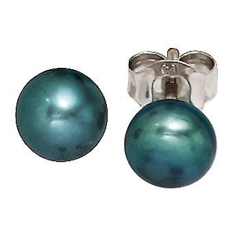 Øreringe 925 sterling sølv 2 ferskvandsperle perler øreringe