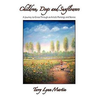 Children Dogs and Sunflowers by Martin & Terry Lynn