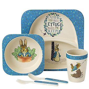 Enfants de Beatrix Potter Peter Rabbit 5 pièces bio dîner ensemble