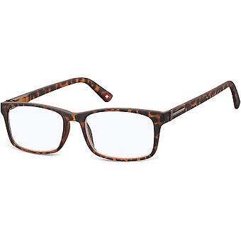 Reading glasses blue light filter brown thickness +1.00 (blfbox73a)