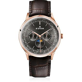 Edox - Wristwatch - Men - Les Vauberts - Annual Calendar - 40101 37RC GIR
