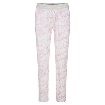 Rösch 1202029-16406 Mulheres's Be Happy White Graphic Flower Pyjama Pant