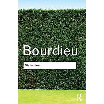 Distinction de Pierre Bourdieu - Richard beau - livre 9780415567886