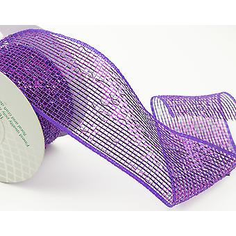 Metallic Purple 6cm x 10m Deco Mesh Roll for Wreath Making, Floristry & Crafts