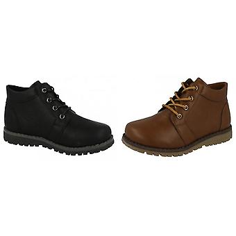 JCDees Boys Trendy Lace Up Ankle Boots