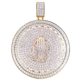 925 الجنيه الاسترليني الفضة مايكرو بمهد قلادة - الدوار POISE الذهب