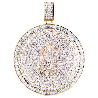 925 sterling hopea Micro Pave riipus - spinner POISE kultaa