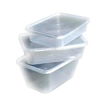 Weller Clear Microwavable Plastic Containers with Lids 650cc
