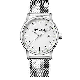 Wenger Urban Classic Quartz White Dial Stainless Steel Bracelet Men's Watch 01.1741.113 RRP £149