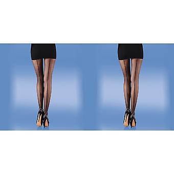Silky Womens/Ladies Smooth Knit Backseam Tights (1 Pair)