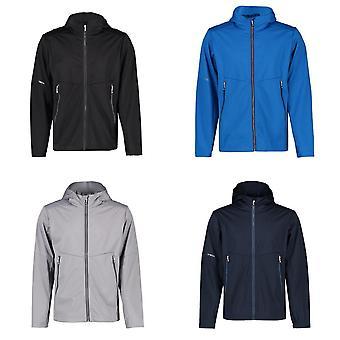 ID Mens Lightweight Tight Fitting Soft Shell Jacket