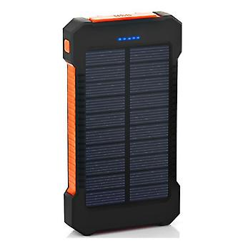 الاشياء المعتمدة® 30.000mAh شاحن الطاقة الشمسية الخارجية بنك الطاقة في حالات الطوارئ بطارية بطارية الطاقة الشمسية شاحن البرتقال
