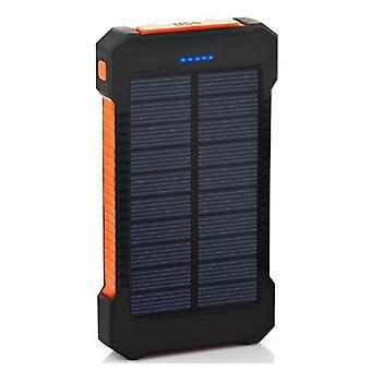 Stuff Certified® 30.000mAh Solar Oplader Ekstern Power Bank Emergency Solar Batteri Oplader Batteri Orange