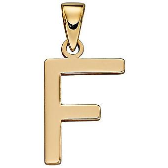 Elements Gold F Pendant - Gold
