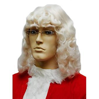 Santa peruukki valkoinen