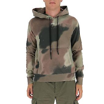 Off-white Ombb034e20fle0116001 Mænd's Camouflage Bomuld Sweatshirt