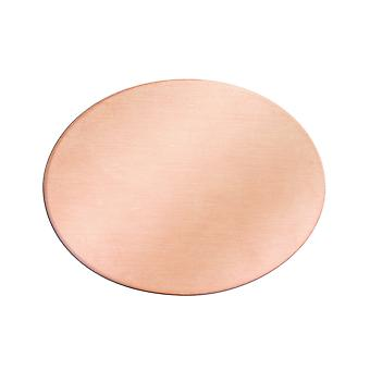 Copper Blanks Oval Pack of 6 40mm X 30mm X 0.9mm