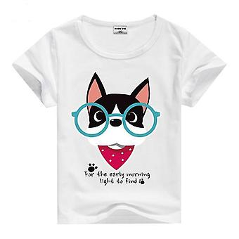 Summer Cotton Short Sleeve T-Shirt, Comic Dog
