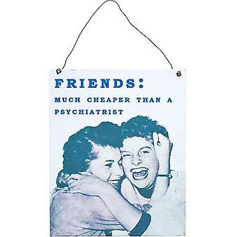 Что-то разные друзья металлический знак
