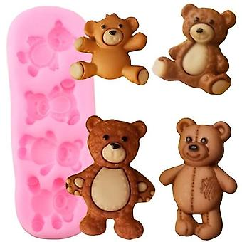 Cute Baby Bears Silicone Molds - Clay, Chocolate, Gumpaste Mold & Diy Party