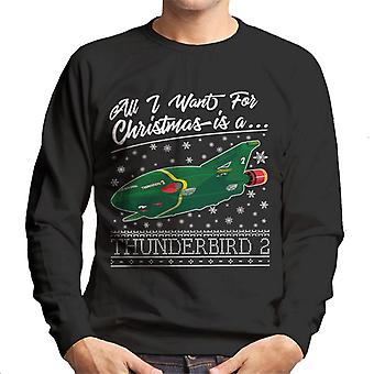 Thunderbirds All I Want For Christmas Is Thunderbird 2 Men's Sweatshirt