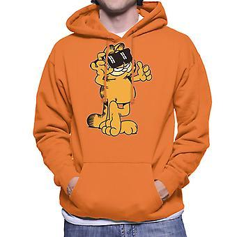 Garfield duimen en zonnebrillen tot mannen ' s Hooded Sweatshirt