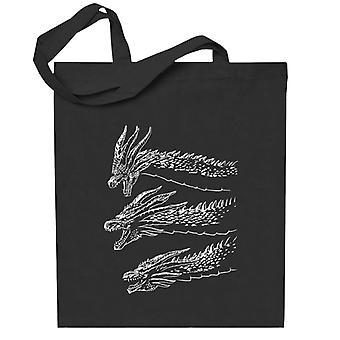 Dragon Godzilla Kuningas Ghidorah Totebag