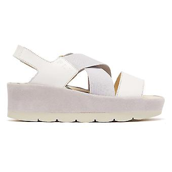 Fly London Bime Womens White Sandals