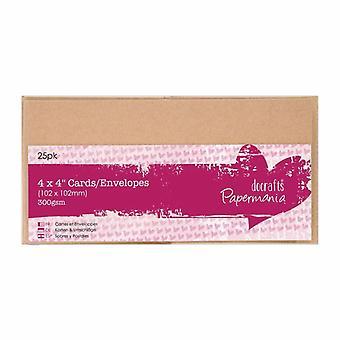Papermania-kaarten en - Enveloppen 4x4 Inch Kraft (25pk) (PMA 151605)