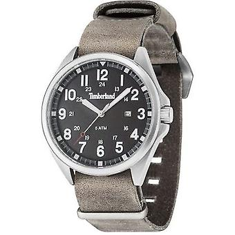 Timberland Raynham Men's Analog Quartz Watch With Date And Brown Leather Strap - 14829js-02