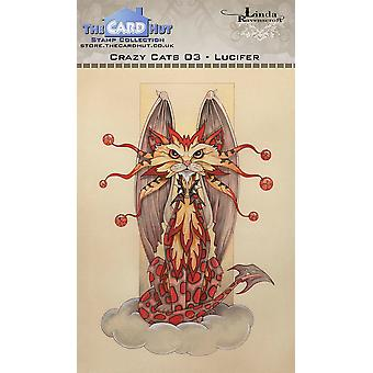 The Card Hut Crazy Cats Lucifer Clear Stamps
